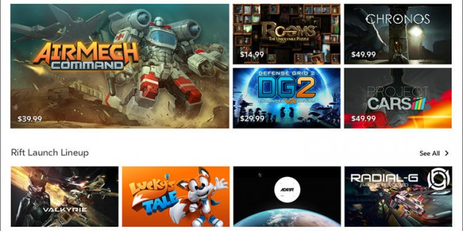 Oculus Rift Launch Games